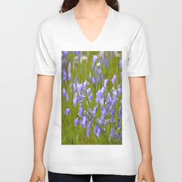Bluebells Meadow #decor #society6 Unisex V-Neck