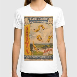Vintage poster - Circus Trapeze Act T-shirt
