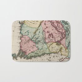 Vintage Map of Finland (1665) Bath Mat