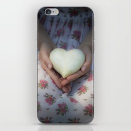 Hands holding a heart iPhone Skin
