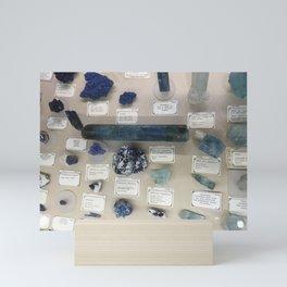 Blue gems Mini Art Print