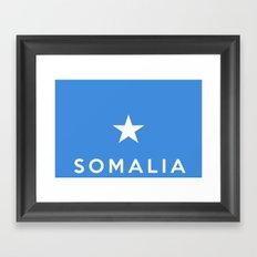 Somalia country flag name text Framed Art Print