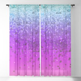 Unicorn Glitter Farts Sheer Curtain