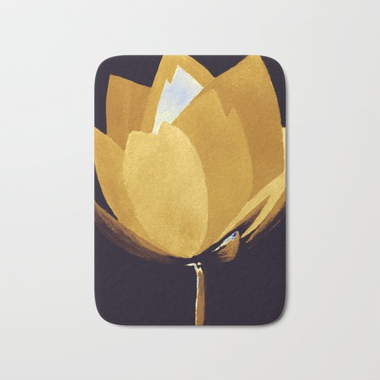 Gold and Silver Bath Mat