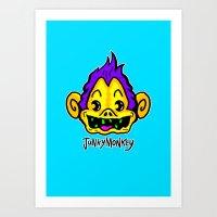 Crack Monkey Art Print