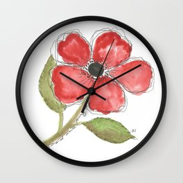Gifts - Watercolor Poppy Wall Clock