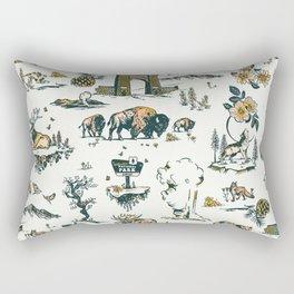 Yellowstone National Park Travel Pattern Design Rectangular Pillow