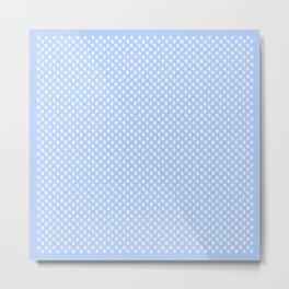 Tiny Paw Prints Powder Blue Metal Print