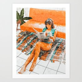 The Gossip Column #illustration Art Print
