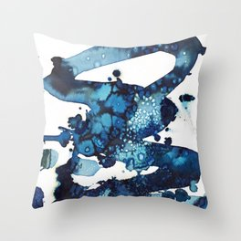 A beautiful spring morning on the beach. Throw Pillow