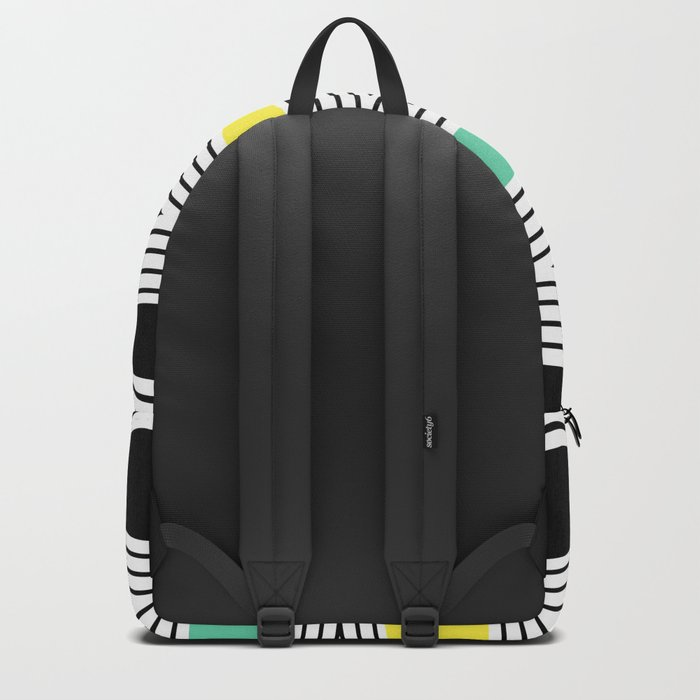 Abstract pattern of zigzag and triangles 3 . Backpack