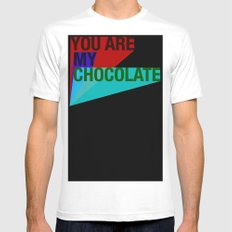 YOU ARE MY CHOCOLATE Mens Fitted Tee White MEDIUM