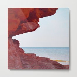 Red Rocks and Sapphire Seas Metal Print