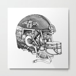 Football Helmet Metal Print