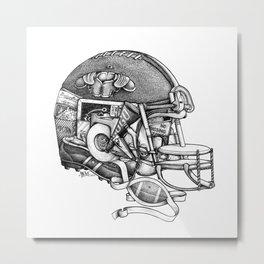 Football Helmet Metal Print
