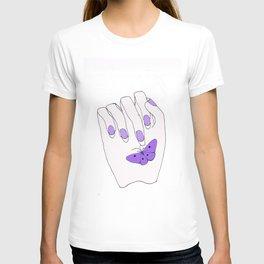 LittleThings, in purple T-shirt