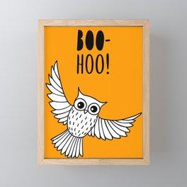 Funny owl Framed Mini Art Print