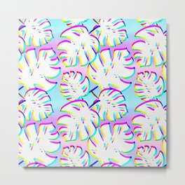 Boho Tropical Leaves Metal Print
