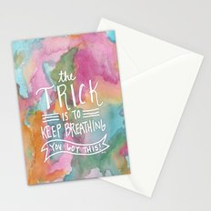 Keep Breathing Stationery Cards