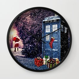 Tardis Christmas Wall Clock
