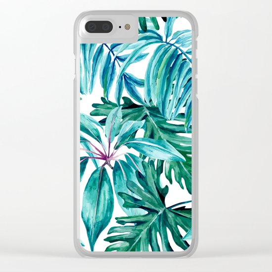 Tropical jungle II Clear iPhone Case