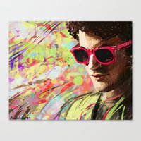 darren criss Canvas Prints featuring Colourful Darren Criss by Ines92