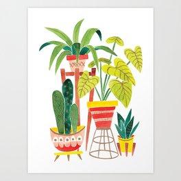Happy Plants Happy Home Art Print