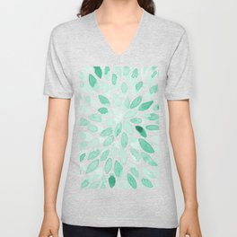 Watercolor brush strokes - aqua Unisex V-Neck