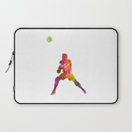 Volley ball player man 04 in watercolor Laptop Sleeve
