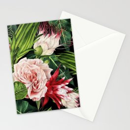 Rich Tropical Floral Design Stationery Cards