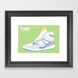 Pump Minimalist Framed Art Print
