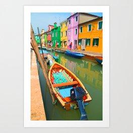 burano, italy - boat Art Print