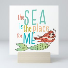 The Sea is the Place for Me Mini Art Print