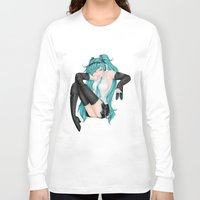 vocaloid Long Sleeve T-shirts featuring Hatsune Miku by Stacy L Gage