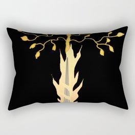 The Flaming Sword Guarding The Garden Rectangular Pillow
