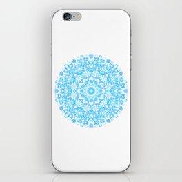 Mandala 12 / 1 eden spirit light blue turquoise iPhone Skin