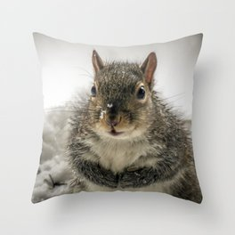 Adorable Praying Squirrel..Feed ME!! Throw Pillow