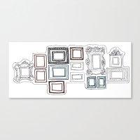 frames Canvas Prints featuring Frames by Laurel Howells