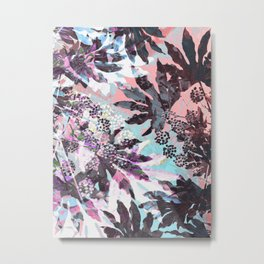 Tropical Adventure in Pink Metal Print