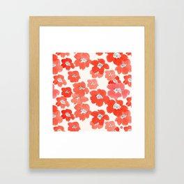 Camellia Flowers in Red Framed Art Print