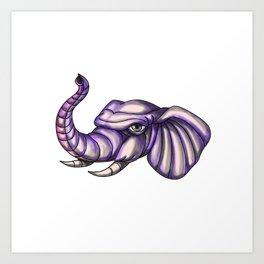 Elephant Head Trunk Tattoo Art Print