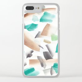 180719 Koh-I-Noor Watercolour Abstract 39  Watercolor Brush Strokes Clear iPhone Case