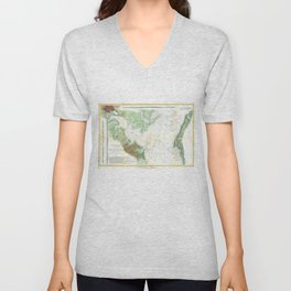 Patapsco River and Chesapeake Bay Map (1857) Unisex V-Neck
