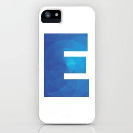 Blue Letter E iPhone Case