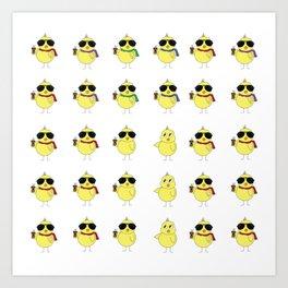 Cool Chicks Art Print