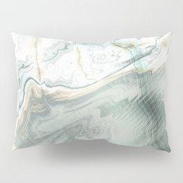 Luxury Turquoise Marble texture Pillow Sham