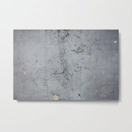 Grunge wall painted blue texture Metal Print