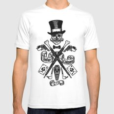 SEÑOR CALAVERA MEDIUM White Mens Fitted Tee