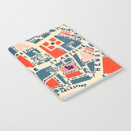 paris map blue Notebook