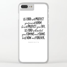 Psalm 121:7-8 - Bible Verse Clear iPhone Case